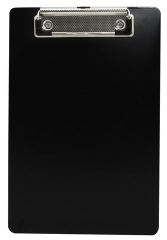 Recycled Plastic Clipboard - Black - Memo Size (00517)