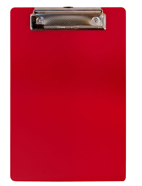 Recycled Plastic Clipboard - Red - Memo Size (00518)