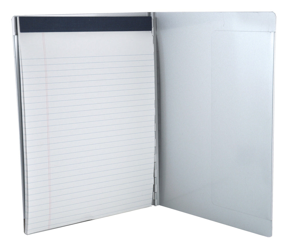 Padfolio with Writing Pad - Silver - Letter Size (00591)