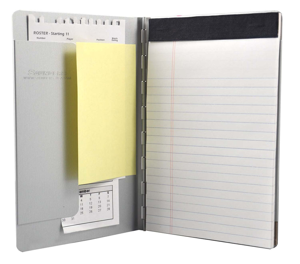 "Padfolio with Writing Pad - Silver - 5"" x 8"" (00880)"