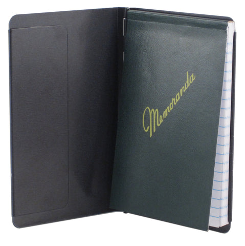 "Padfolio with Writing Pad - Black - Pocket Size (3.5"" x 5.5"") - (00883)"