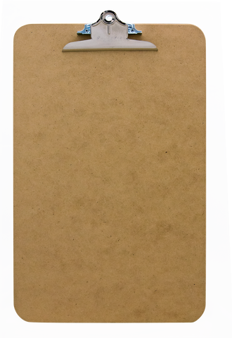 Recycled Hardboard Clipboard - Ledger Size - (05617)