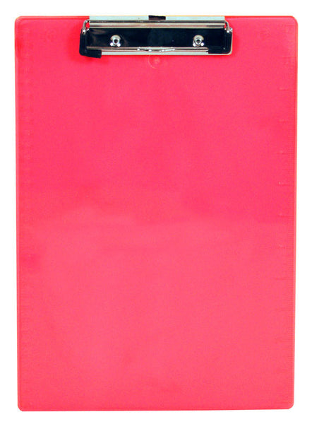 Recycled Plastic Clipboard -Neon Pink - Letter/A4 (21594)