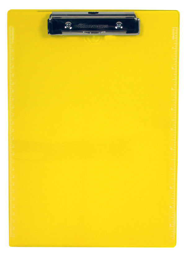 Recycled Transparent Plastic Clipboard - Neon Yellow - Letter/A4 (21595)