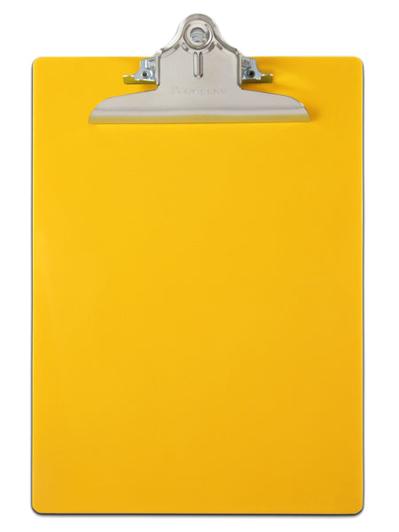 Recycled Plastic Clipboard - Yellow - Letter/A4 (21605)