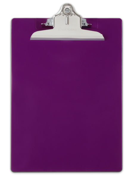 Recycled Plastic Clipboard - Purple - Letter/A4 (21606)