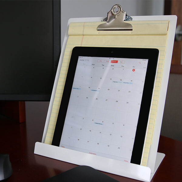 Free Standing Clipboard/Tablet Stand - White - Letter Size (22522)