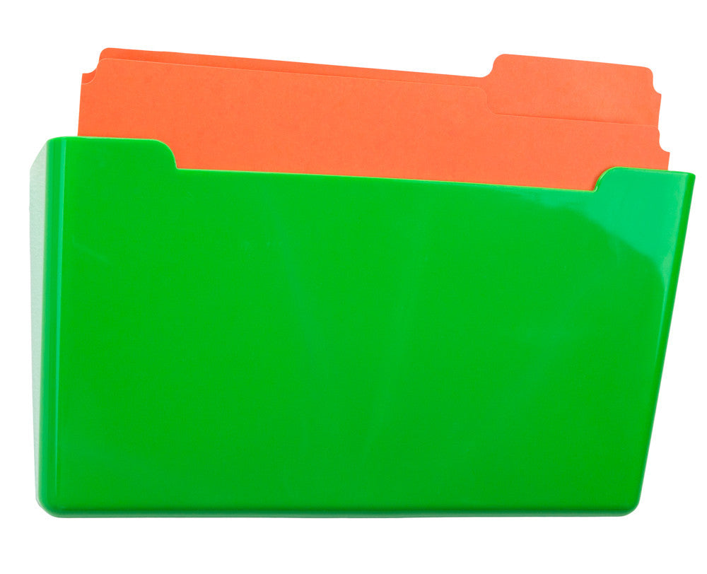 Wall File Pocket -  Green - Letter Size - 1pk (27283)