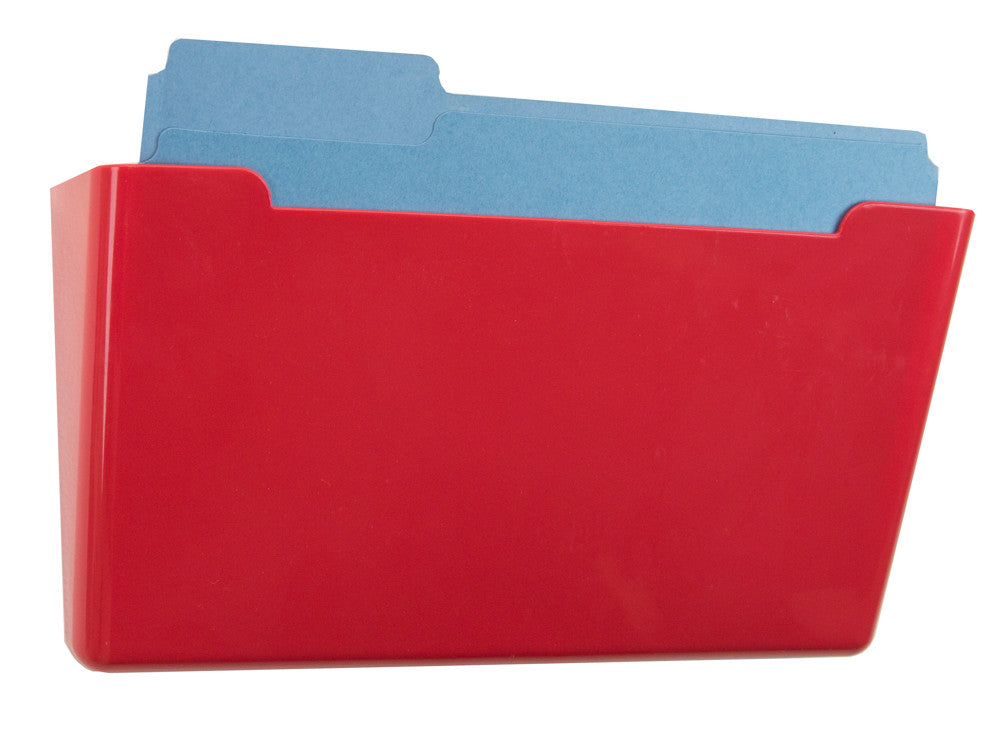 Wall File Pocket - Red - Letter Size - 1pk (27282)