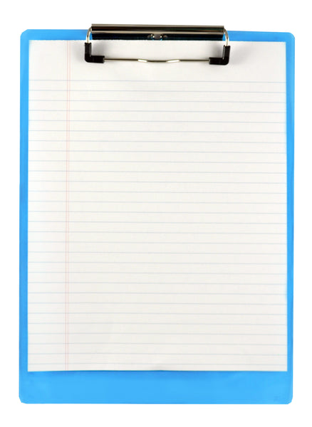 Recycled Plastic Clipboard - Ice Blue - Letter/A4 (00439)