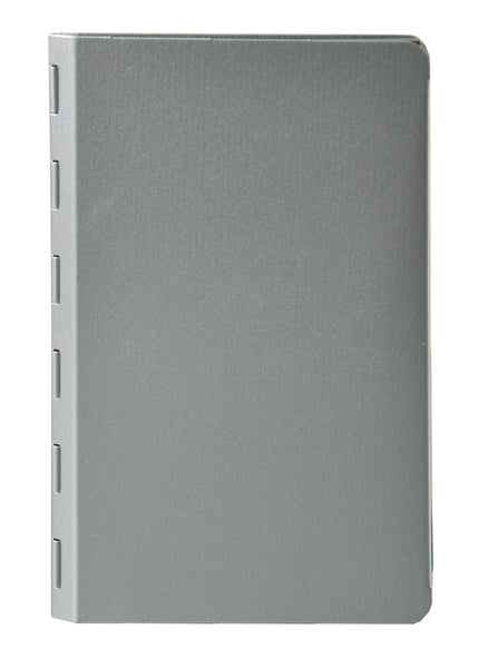 "Padfolio with Writing Pad - Silver - Pocket Size (3.5"" x 5.5"") (00882)"
