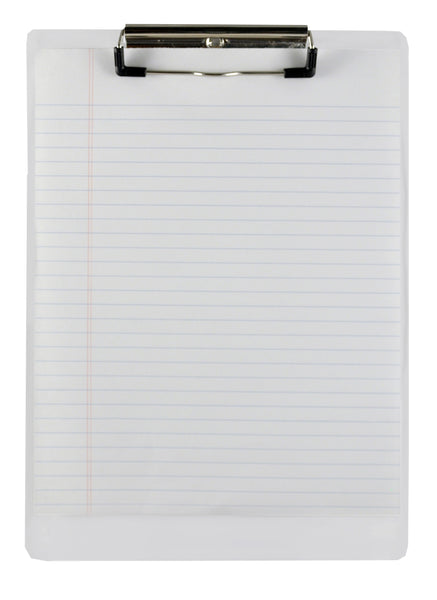 Acrylic Clipboard - Clear - Letter/A4 Size (21565)