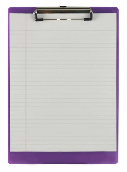 Recycled Plastic Clipboard - Plum - Letter/A4 (21580)