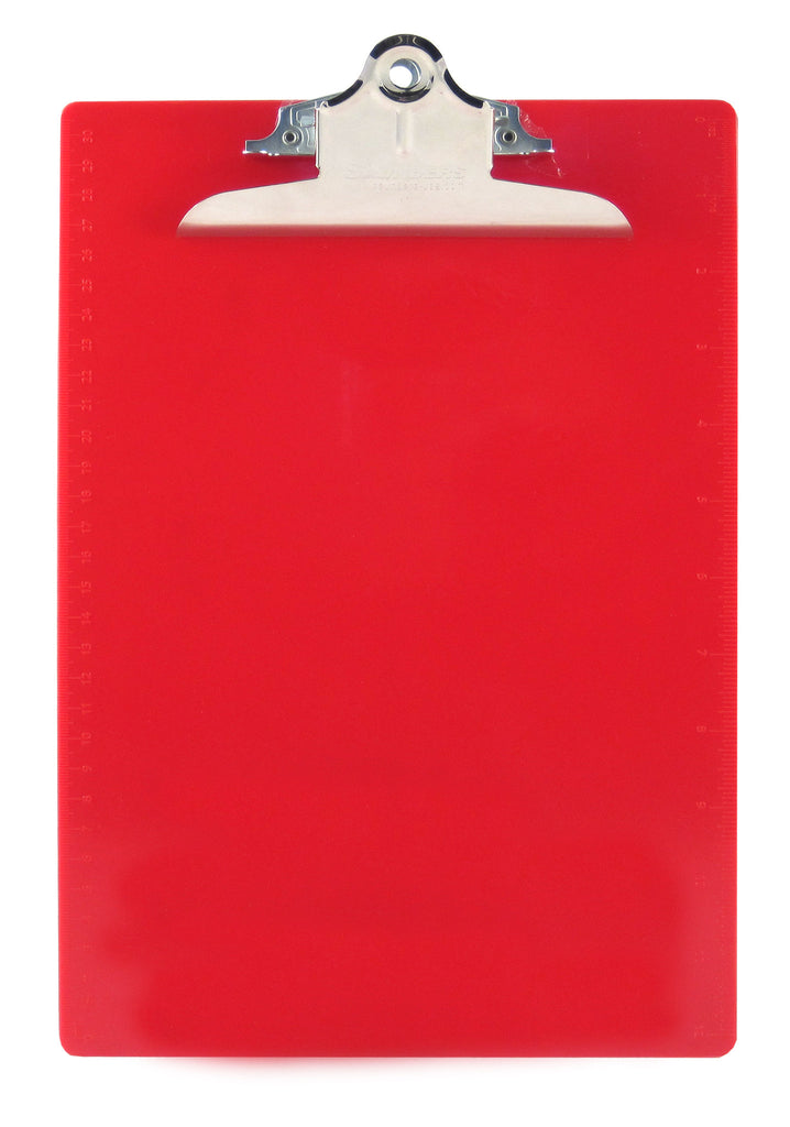 Recycled Plastic Clipboard - Red - Letter/A4 (21601)