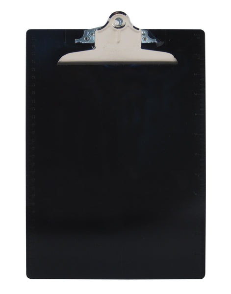 Recycled Plastic Clipboard - Black - Letter/A4 (21603)