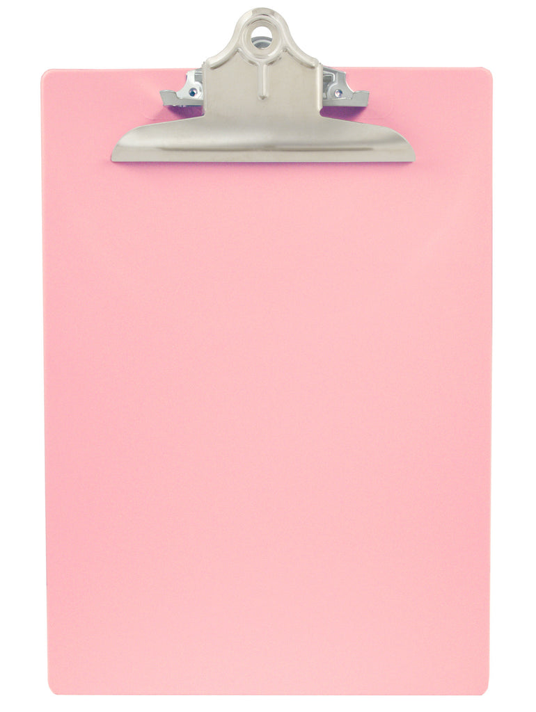Recycled Plastic Clipboard - Pink - Letter/A4 (21800)