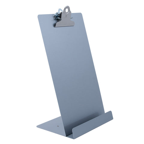 "Free Standing Clipboard/Tablet Stand - Silver - 'Memo' Size: 6.5"" x 12.25"" (22529)"