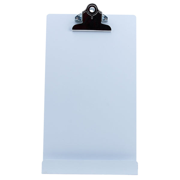 "Free Standing Clipboard/Tablet Stand - White - 'Memo' Size: 6.5"" x 12.25"" (22531)"