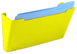Wall File Pocket - Yellow - Letter Size - 1pk (27280)
