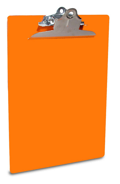 Recycled Plastic Clipboard - Hi-Vis Orange - Letter/A4  (21659)
