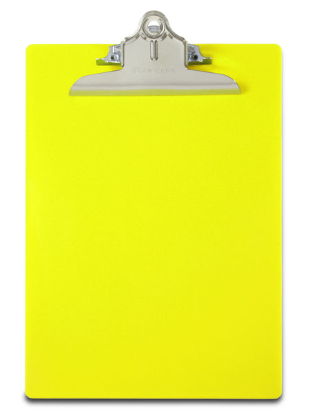 Recycled Plastic Clipboard - Hi-Vis Yellow - Letter/A4  (21673)
