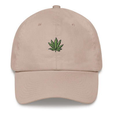 Glazed Dad Hat - Cannabis Plant