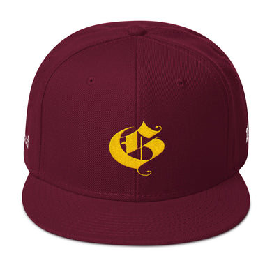 Glazed Snapback Hat - G