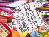 Cat Colouring Bookmarks | Carla Martell