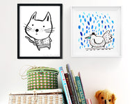 Baby Cat and Rain Bird prints | Carla Martell