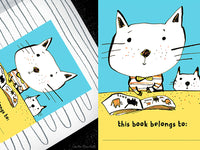Reading Cats Illustrated Bookplate | Carla Martell