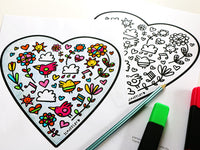 Love Hearts Colouring Printable | Carla Martell