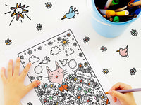 Flower Garden Cat Colouring Page | Carla Martell