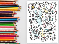 Easter Bunnies Colouring Page | Carla Martell
