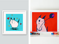 Two Cute Cat Prints | Carla Martell