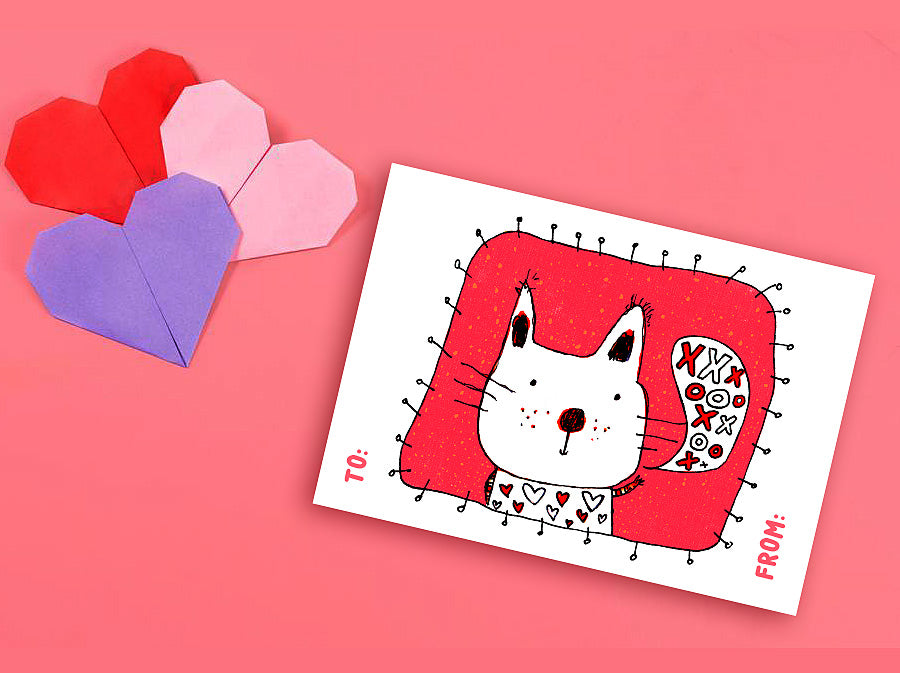 Garfield Valentine Card Pop Up Cat All You Need Is Love And A Cat Funny Valentine/'s 3D Mixed Media Art Handmade