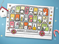 Christmas Colouring Bus Printable | Carla Martell