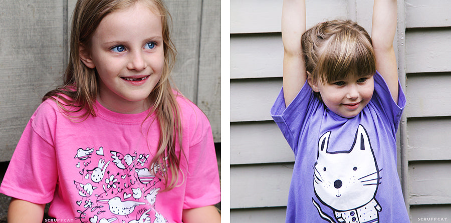 Cute Kids T Shirts by Scruffcat