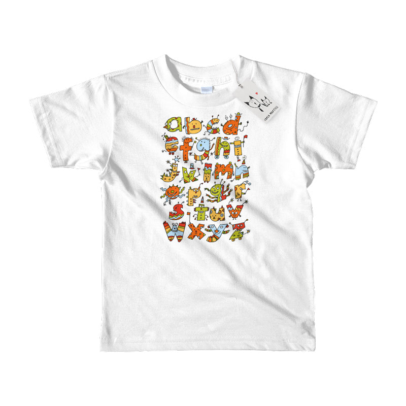 Alphabet Monsters Kids T Shirt | White | Carla Martell