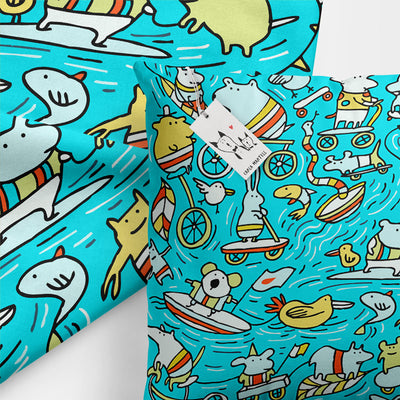 Carla Martell | Amazing Animal Power Kids Pillow closeup