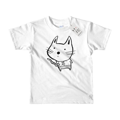 Carla Martell | Baby Cat Kids T Shirt | White