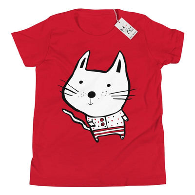 Carla Martell | Baby Cat Youth T Shirt | Red