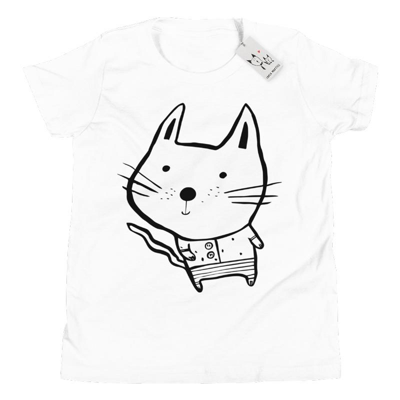 Carla Martell | Baby Cat Youth T Shirt | White