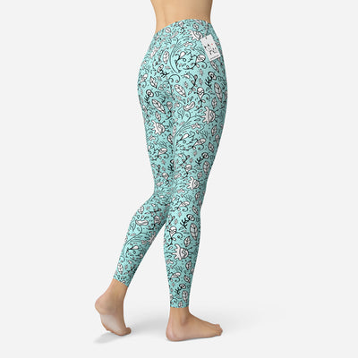 Scruffcat | Blooming Lovely Leggings back/side