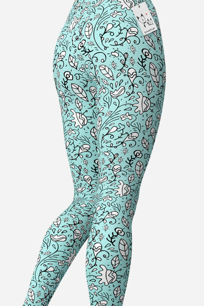 Scruffcat | Blooming Lovely Yoga Leggings back view