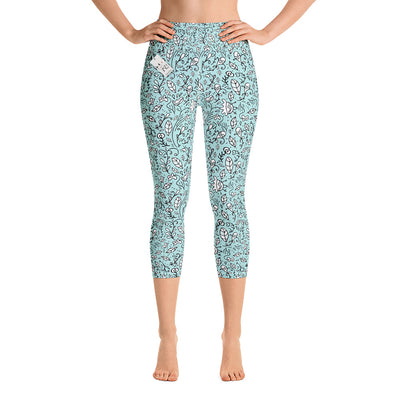 Scruffcat | Blooming Lovely Yoga Capri Leggings