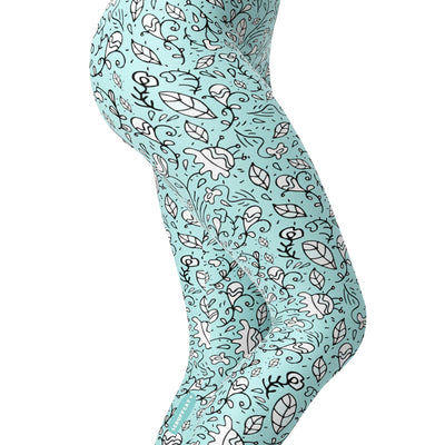 Scruffcat | Blooming Lovely Yoga Leggings side view