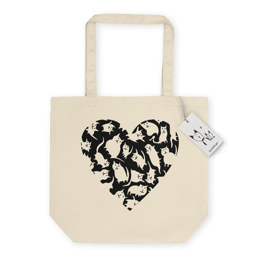 Scruffcat | Crazy Cat Heart Eco Tote Bag