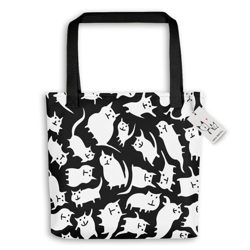 Carla Martell | Crazy Cats Tote Bag