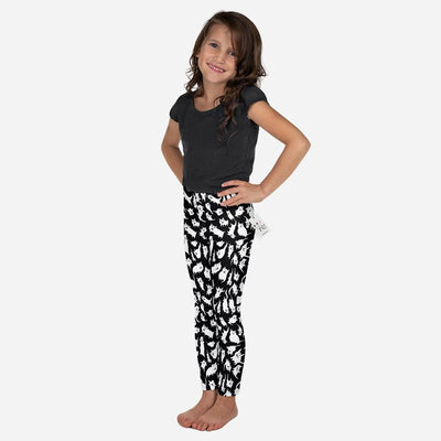 Carla Martell | Crazy Cats Kids Leggings 3/4 view