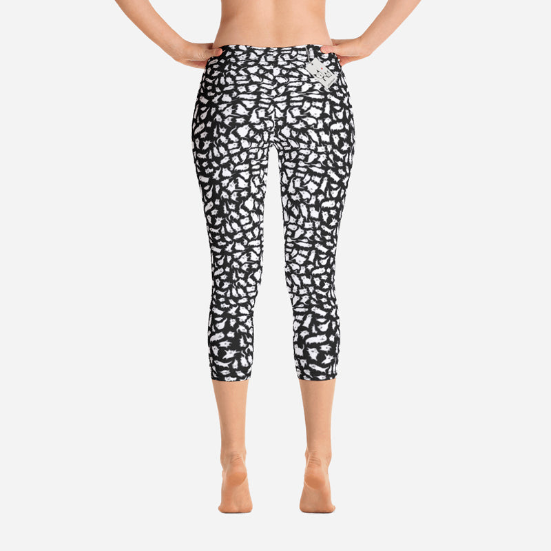 Scruffcat | Crazy Cats Capri Leggings back view